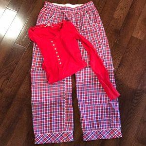 EUC Victoria's secrets Christmas pajama set